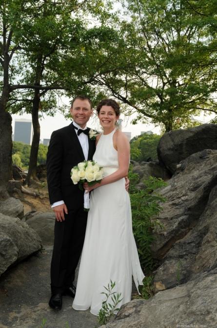 Bride and Groom at Hernshead Rocks by: Steve Worth
