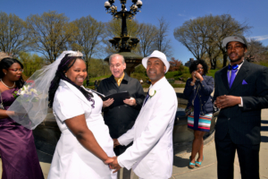 Wedding Ceremony at Cherry Hill Fountain