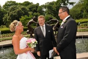 Wedding at Untermeyer Fountain Central Park