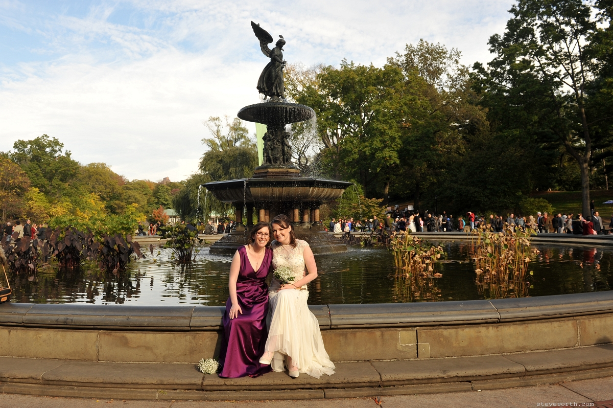 Bethesda terrace wedding central park wedding for Terrace wedding