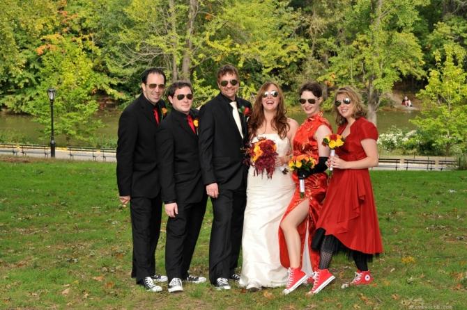 Bridal Party at bottom of Cherry Hill by: Kira Yustak