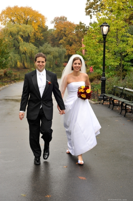 Walking toward Bethesda Fountain by: Steve Worth