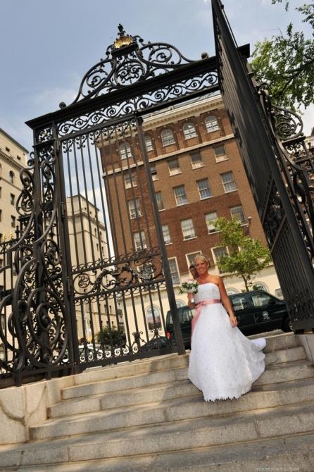Bride enters through Vanderbilt Gate by: Steve Worth